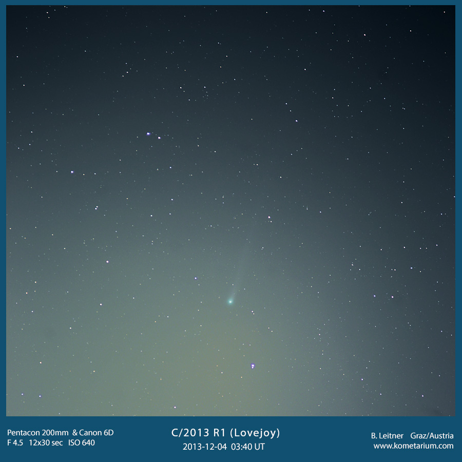 C/2013 R1 (Lovejoy) with Pentacon 200mm